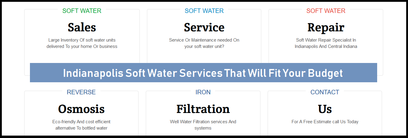 Indianapolis Water Softening Company 317-749-0949